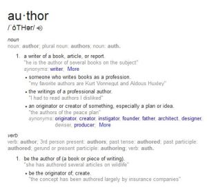 author definition