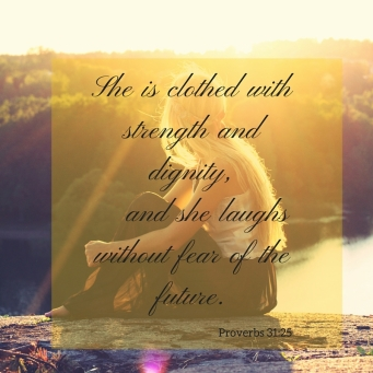 clothed with strength and dignity